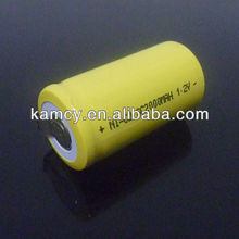 rechargeable akku battery Ni-Cd SC 2000mAh 1.2V with solder tab