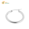 Hot sale silver gold rose gold black colors surgical stainless steel circle huggie hoop earrings for women men