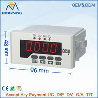 ME-3H51 96*48mm LED display three phase digital power factor meter, support RS-485 communications and Modbus-RTU protocol