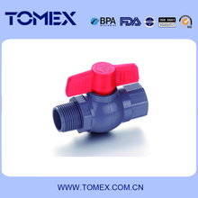 Male to female thread ends PVC ball valve of high quality made in China