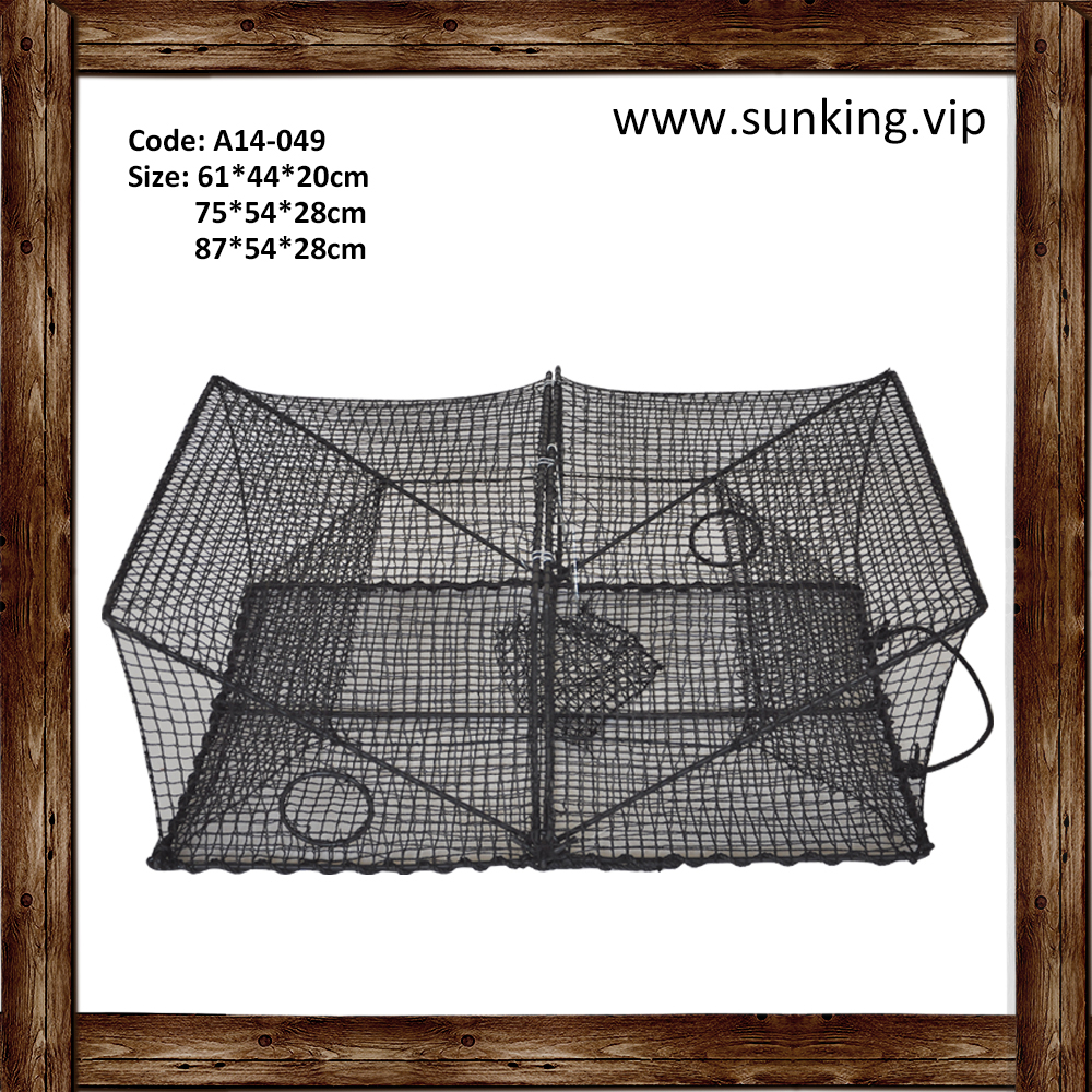 A14-049 ISO 9001quality cheap popular rectangle cost effective crab lobster trap crayfish fishing nets