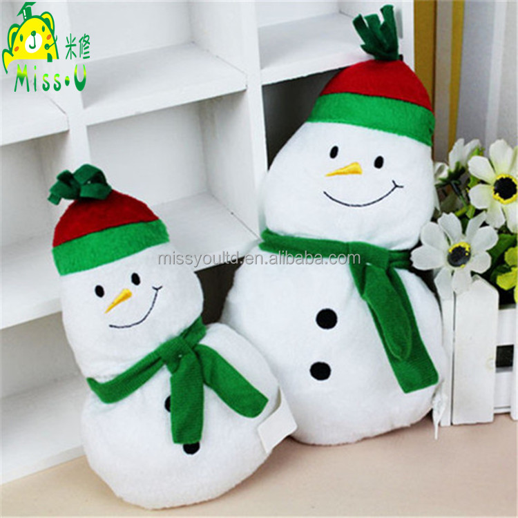Wholesale Durable Plush Snowman Pet Toys For Dogs Playing