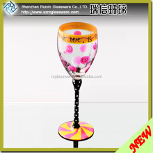 Luxury Medusa Colored Decal Glass Goblet Set/Unleaded Decal Wine Glass/Luxury Wedding Favors Handmade Decanter Set