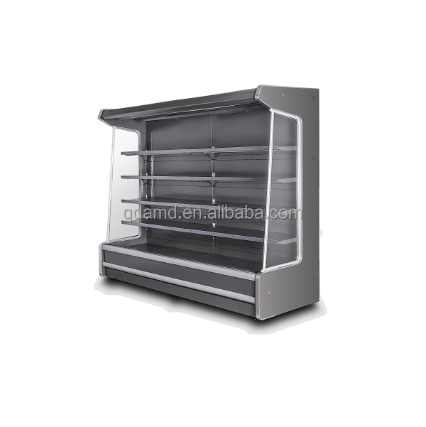 Remote air curtain supermarket refrigeration with glass door