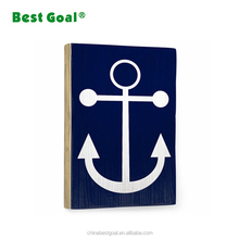 Navy style family design wooden wall plaque