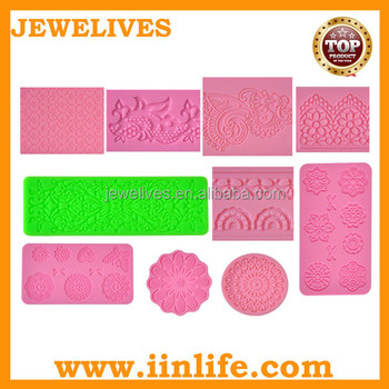New cake decoration tools lace mat silicone mold for fondant