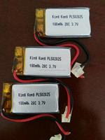 high discharge rate Li polymer battery PL502025 180mah 20C for remote control aircraft and Toy model
