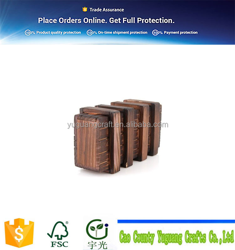 OEM Magic Wooden Box with Extra Secure Secret Drawer, Brown