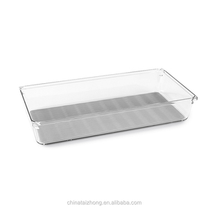 China Supply Plastic drawer storage box clear desk office organizer