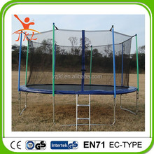 14ft second hand trampolin/trampoline with safety enclosure for sale