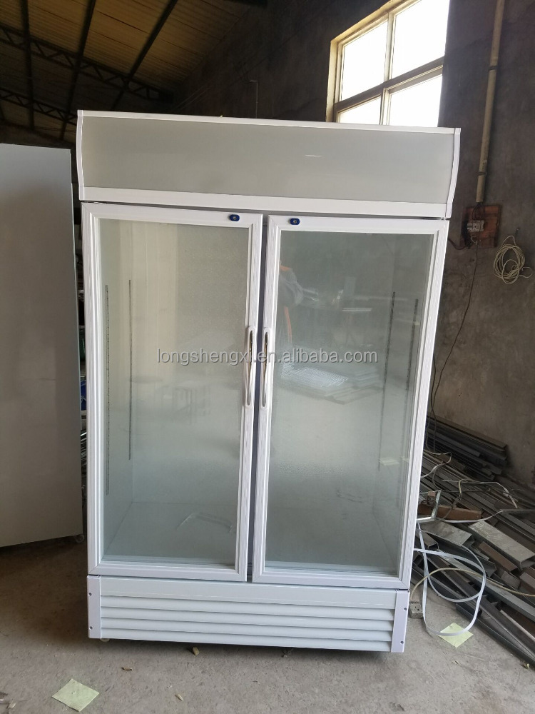 Mobile single door commercial upright cold drinks display chiller
