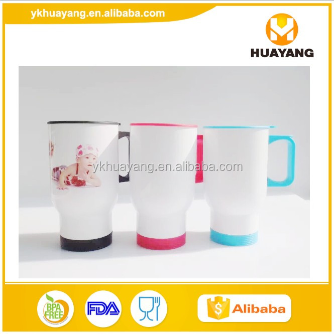 2016 new travel coffee mug for sublimation double wall stainless steel 16oz (HY-<strong>A085</strong> with mix color)