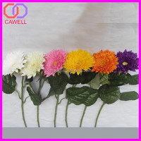 wholesale single long stem artificial flowers coral silk gerbera daisy