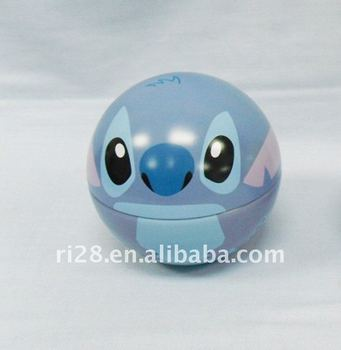 Tin ball shaped for nice gifts packagings