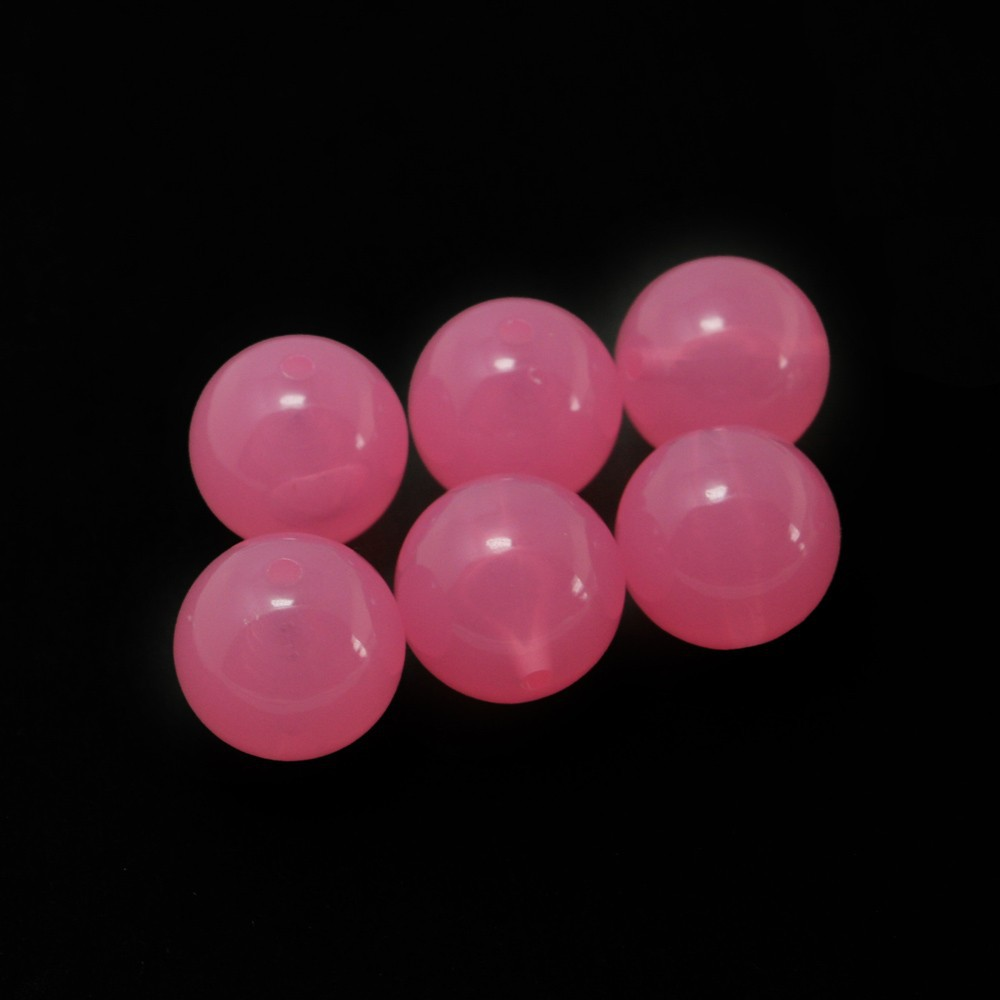 Wholesale 140pcs/lot Peach 18mm Round Acrylic Candy Loose Spacer Chunky Beads for Bracelet Jewelry DH-BSD114-12