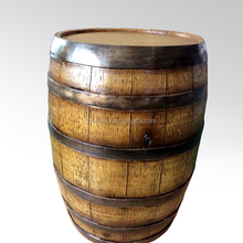 Artificial imitate old oak fiberglass barrel sculpture for prop display