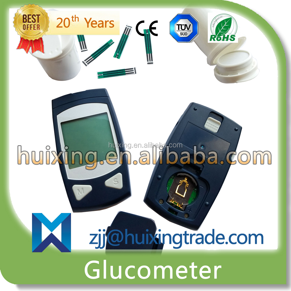 Slid To Remove Strip Automatically Digital Blood Glucometer