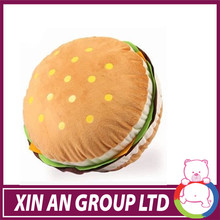 Super soft Hamburger shaped cookie cushion pillow for sale