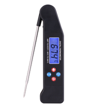 2016 New Digital Instant Read LED BBQ Thermometer Wireless LED Speak BBQ Meat Thermometer with Folding Probe