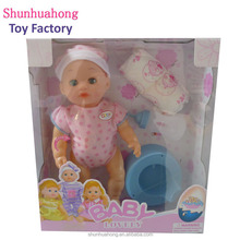China factory made 12 inch doll toy with diaper for 3 years old kids
