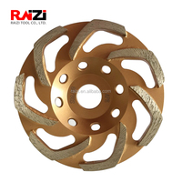 Raizi 7 inch angle grinder concrete cup diamond grinding wheel for heavy duty removal