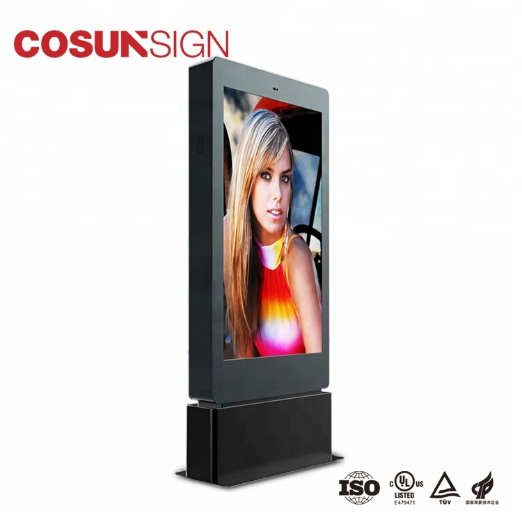 Outdoor Display Glass Screen Software Kiosk Icd Digital Signage Media Player