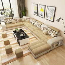 Living Room <strong>Furniture</strong> U Shaped Fabric Sectional Sofa Corner Sofa