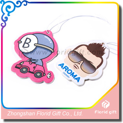 Fans custom star character paper car air freshener with fragrance