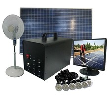 Portable 40W Solar Power,with 6pcs LED lanterns,mobile charger,2 USB output,for fan,TV,outdoor lighting,easy to carry
