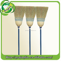 New product Straw Sorghum Broom with wooden handle