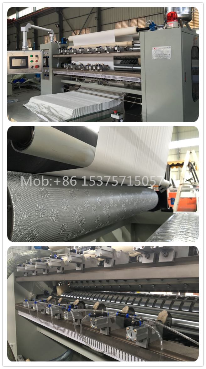 Facial Tissue Making Machine Production Line Embossing V fold Box Drawing Tissue Paper Price