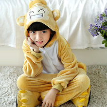 Wholesale Child Clothes Monkey Pajamas Cartoon Cute Hooded Warm Homewear Cosplay Party Funny Costume For Girls boys baby