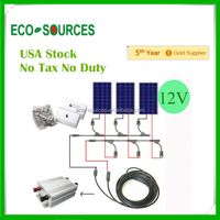 USA Stock 300Watt Solar Panel Kit solar panel System Boat Off Grid free shipping