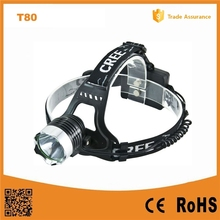 High power zoom 10W Aluminum rechargeable xml t6 led headlamp