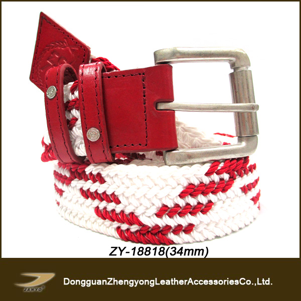 handmade braided belt , red championship belt (ZY-18818)