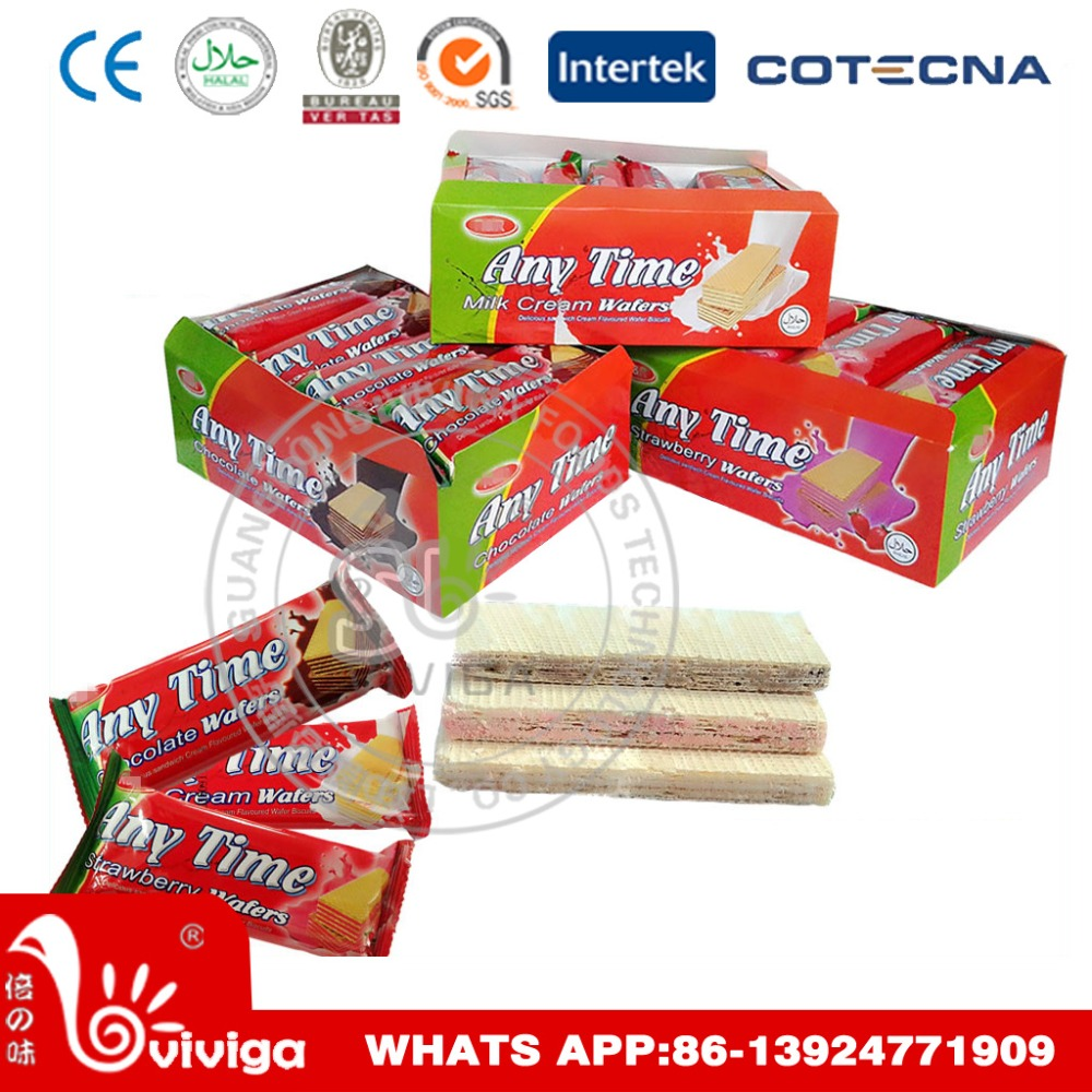 three flavor chocolate,strawberry and milk cream wafer