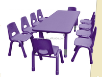 JQ fire-proof plate rectangle ten seats used tables and chairs for sale