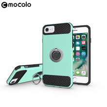 For iPhone 7 Case TPU+PC Back Cover Stand Holder 360 Degree Rotation Phone Cases For iPhone