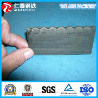 Hot rolled flat steel bar with serrate shape