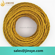 Twist 2 core braided fabric cord cable wire electrical lighting lamp vintage braided wire