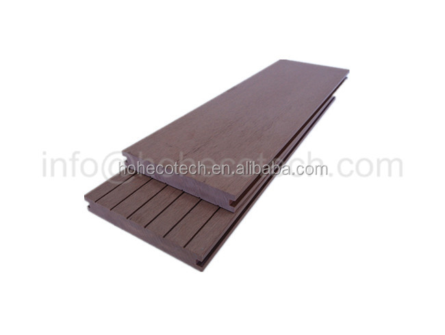 20mm solid decking coffee color composite lumber Recycled plastic wood deck