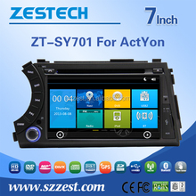 7 inch used auto spare parts for Ssangyong Actyon/Rodius/Korando car radio with sim card with GPS Radio Audio SWC DTV ATV 3G BT