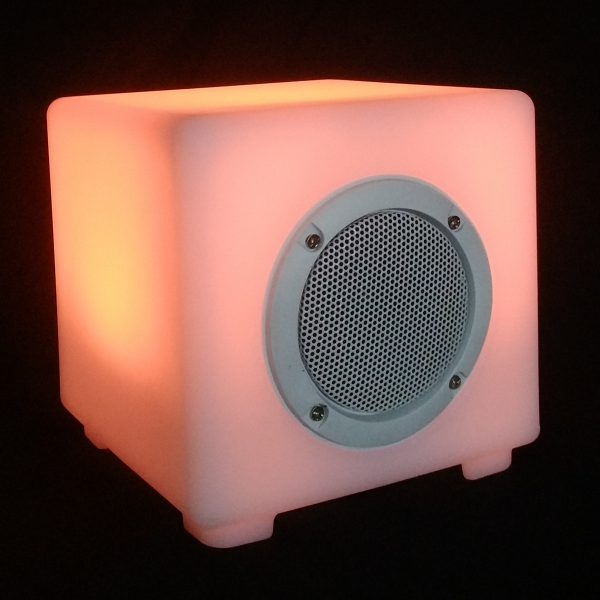 smart wireless rechargeable battery operated disco bluetooth speaker with music control led flashing night lamp light