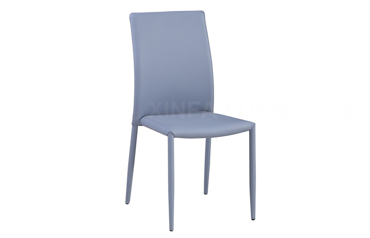 cheap wholesale pu leather cover four metal legs dining room chair