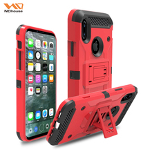 High quality heavy duty tough hard casefor iphone8, for iphone8 pc tpu case hard case stand case
