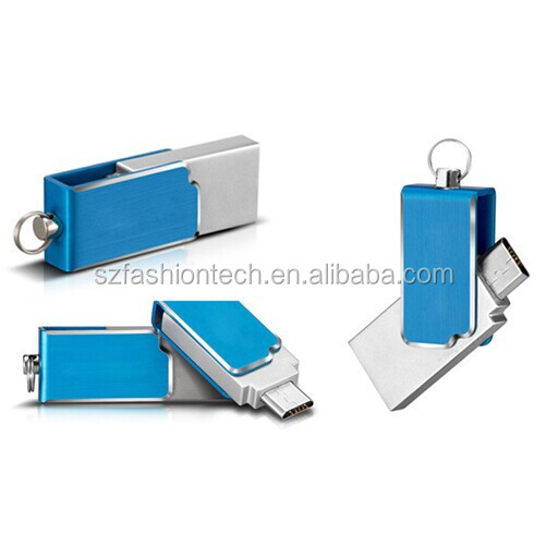 Best Price Dual Port Android smartphone mini swivel OTG Usb Flash Drive