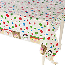 bulk cheap Christmas design plastic table cloth