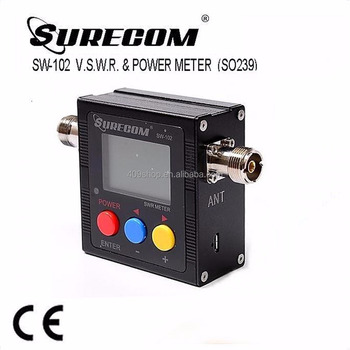 NEW SURECOM SW102 125-525Mhz V/UHF POWER Digital SWR METER