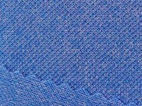 Blue Polyester Spandex Fabric for Sport Clothing Sustainable Textile Brand