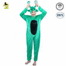 New Autumn and Winter Christmas Pajamas Sets Cartoon Sleepwear Adults Pajamas Green Frog Flannel Animal Pajamas Sets